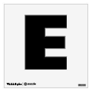Etiqueta de la pared del alfabeto de E