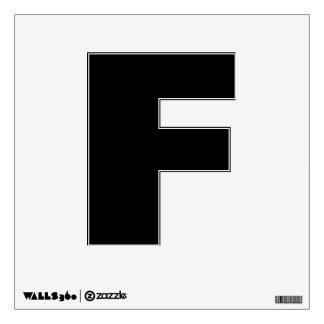 Etiqueta de la pared del alfabeto de F