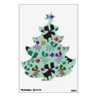 Etiqueta de la pared del árbol de navidad vinilo adhesivo