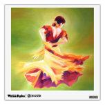 Etiqueta de la pared del bailarín del flamenco vinilo decorativo