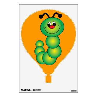 Etiqueta de la pared del balón de aire del gusano