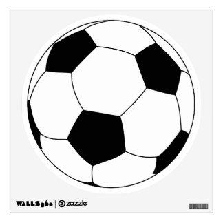 Etiqueta de la pared del balón de fútbol vinilo