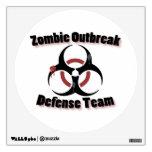 Etiqueta de la pared del brote del zombi