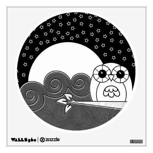 Etiqueta de la pared del búho de Whoot - pegatina  Vinilo Adhesivo