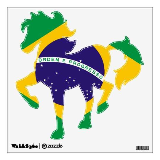 Etiqueta de la pared del caballo del Brasil Vinilo