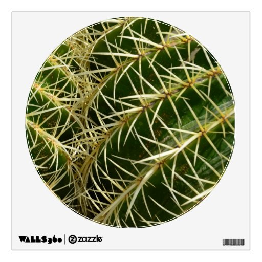Etiqueta de la pared del cactus