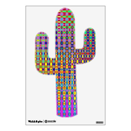 Etiqueta de la pared del cactus del Psychedelia