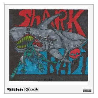 Etiqueta de la pared del cebo del tiburón