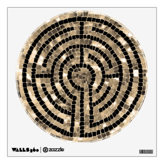 Etiqueta de la pared del círculo del laberinto V