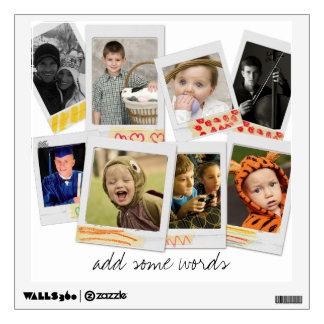 etiqueta de la pared del collage de la foto vinilo adhesivo