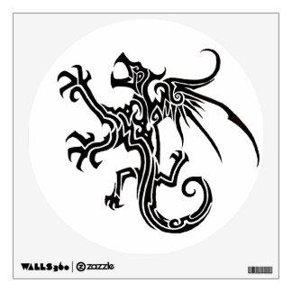 Etiqueta de la pared del dragón
