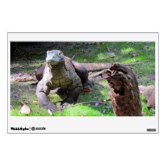 Etiqueta de la pared del dragón de Komodo Vinilo Adhesivo