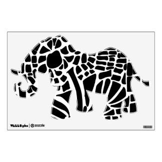 Etiqueta de la pared del elefante del modelo, vinilo
