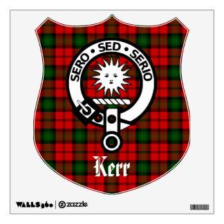 Etiqueta de la pared del escudo y del tartán de Ke Vinilo