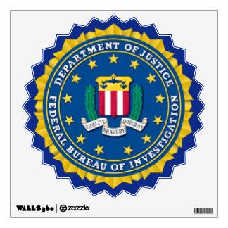 Etiqueta de la pared del FBI Vinilo