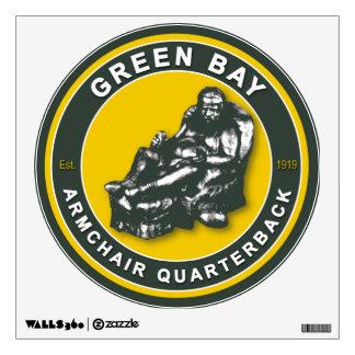 Etiqueta de la pared del fútbol del Green Bay