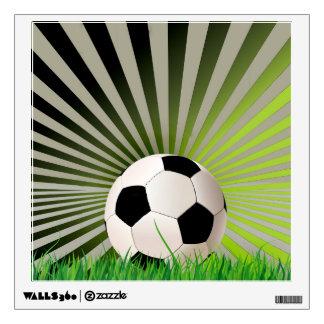Etiqueta de la pared del fútbol vinilo adhesivo