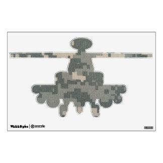 Etiqueta de la pared del helicóptero del ACU del e Vinilo Decorativo