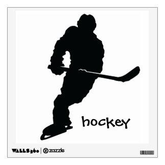 Etiqueta de la pared del hockey vinilo adhesivo