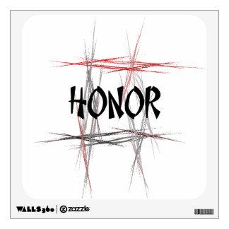 Etiqueta de la pared del honor de los artes marcia