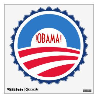 Etiqueta de la pared del logotipo de Obama Vinilo Adhesivo