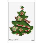 Etiqueta de la pared del modelo del árbol de navid
