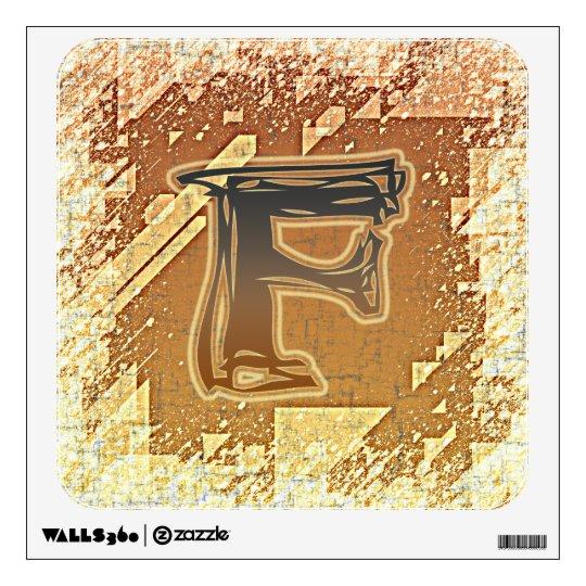 Etiqueta de la pared del MONOGRAMA F del FRAZZLE Vinilo