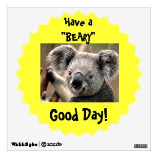 Etiqueta de la pared del oso de koala vinilo