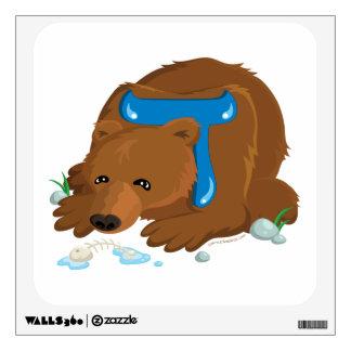 Etiqueta de la pared del oso de la apuesta de Alep Vinilo Adhesivo