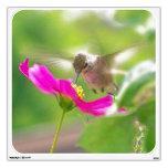 Etiqueta de la pared del pájaro del colibrí