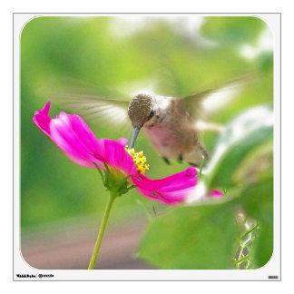 Etiqueta de la pared del pájaro del colibrí vinilo adhesivo