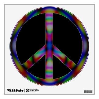 Etiqueta de la pared del signo de la paz