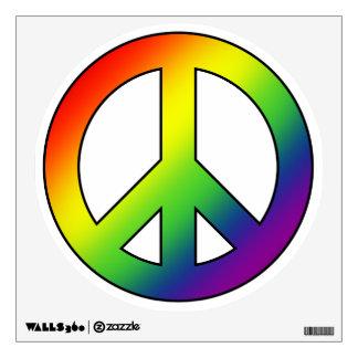 Etiqueta de la pared del símbolo de paz del arco i