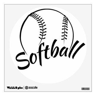 Etiqueta de la pared del softball vinilo