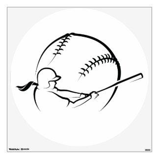 Etiqueta de la pared del talud del softball vinilo adhesivo