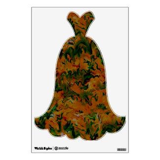 Etiqueta de la pared del vestido de noche del fies