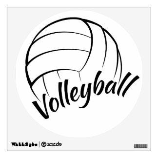 Etiqueta de la pared del voleibol