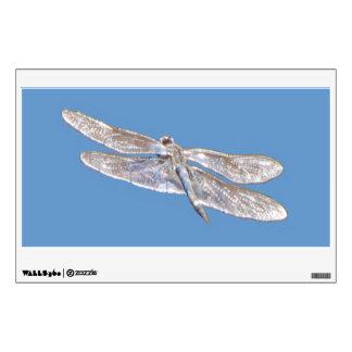 Etiqueta de la pared--Libélula del hilo de araña Vinilo Adhesivo