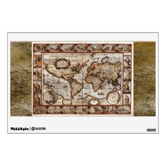 Etiqueta de la pared o de la ventana del mapa de V Vinilo
