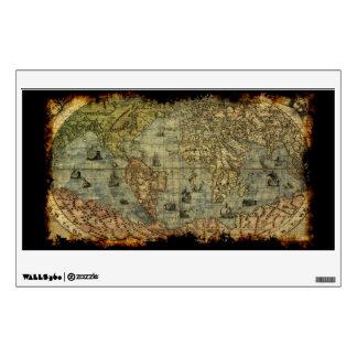 Etiqueta de la pared o de la ventana del mapa de V Vinilo Adhesivo