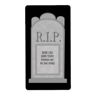 Etiqueta de la piedra sepulcral de Halloween Etiqueta De Envío