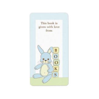Etiqueta de la placa de libro de regalo del libro etiqueta de dirección