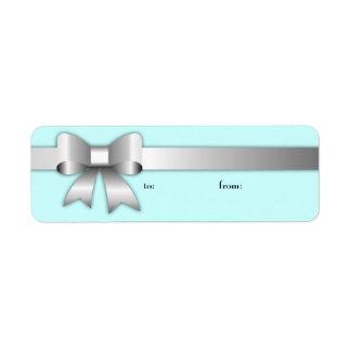 etiqueta de la plata 311-Bow-Licious Etiqueta De Remitente