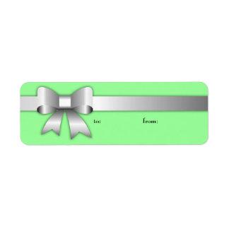 etiqueta de la plata 311-Bow-Licious Etiquetas De Remite