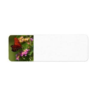 Etiqueta de la primavera del monarca etiquetas de remite