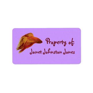 Etiqueta de la propiedad de Betta Etiquetas De Dirección
