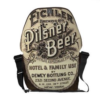 Etiqueta de la publicidad de la cerveza de Pilsner Bolsa De Mensajería