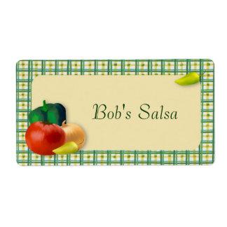 Etiqueta de la salsa etiquetas de envío