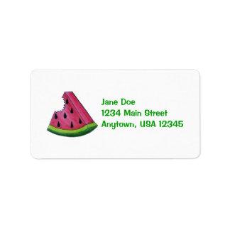 Etiqueta de la sandía etiquetas de dirección