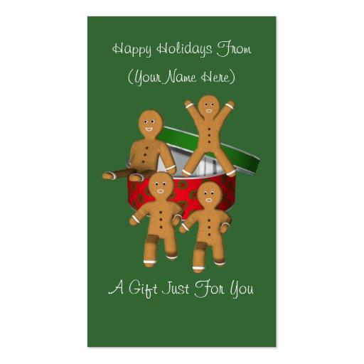 Etiqueta de la tarjeta de regalo de vacaciones del plantillas de tarjeta de negocio